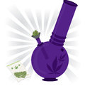 Marijuana bong illustration purple vector Stock Photo