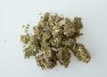 Marijuana buds green and orange Stock Photo