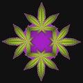 Marijuana Cartoon Symbol Illustration