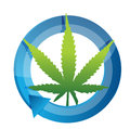Marijuana cycle illustration design over a white background Royalty Free Stock Photos