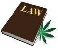 Marijuana law on the legalization of cannabis plant book vector illustration Stock Image