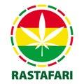 Marijuana leaf in rastafari colours, illustration Royalty Free Stock Photo