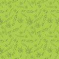 Marijuana leafs and joints seamless pattern. Mj vector background