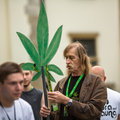 Marijuana marches is a global movement manifesto fighting for a rational approach towards hemp plant krakow poland may Royalty Free Stock Image