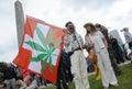 Marijuana protest Royalty Free Stock Photo