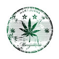Marijuana rubber stamp Royalty Free Stock Images