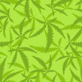 Marijuana is a seamless pattern. Background of narcotic plant. Royalty Free Stock Photo