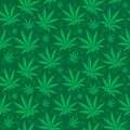 Marijuana seamless pattern. Cannabis is an endless texture. Medical hemp repeating background. Vector illustration. Royalty Free Stock Photo