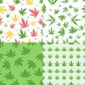 Marijuana seamless pattern vector.