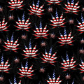 Marijuana in the USA Leaf Pattern Repeat Background