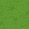 Marijuana weed cartoon seamless vector pattern green Royalty Free Stock Photo
