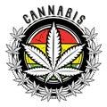Marijuana and weed leaf logo design Royalty Free Stock Photo