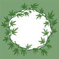 Marijuana wreath illustration