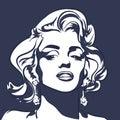 Marilyn Monroe Illustration Royalty Free Stock Photo