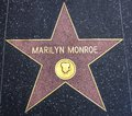 Marilyn Monroe star on the Walk of Fame Royalty Free Stock Photo