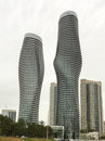 The marilyn monroe towers residential condominium absolute world in mississauga ontario canada Stock Photos