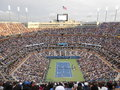 Marin cilic vs kei nishikori at u s open final playing against Royalty Free Stock Photo