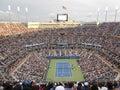 Marin cilic vs kei nishikori at u s open final playing against Royalty Free Stock Photo