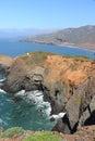 Marin county california coast golden gate national recreation area in point bonita view Stock Photos
