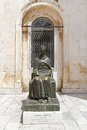 Marin drzic dubrovnik croatia june monument on june brass sculpture of famous writer in croatia Stock Images