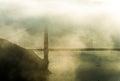 Marin headland in fog golden gate bridge at Stock Photos