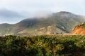 Marin headland in fog golden gate bridge at Royalty Free Stock Photography