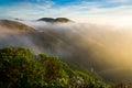 Marin headland in fog the morning Royalty Free Stock Photo