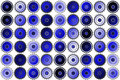 Marin och gray geometric dot pattern Arkivfoton