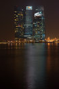 Marina bay financial centre singapour Photographie stock