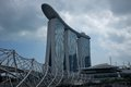 Marina bay sands and bridge Stock Photography