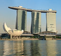 Marina Bay Sands hotel and casino, Singapore Royalty Free Stock Photos