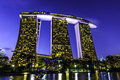 Marina bay sands hotel is an integrated resort fronting in singapore developed by las vegas lvs it is billed as the Royalty Free Stock Image