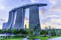 Marina bay sands hotel is an integrated resort fronting in singapore developed by las vegas lvs it is billed as the Royalty Free Stock Photography