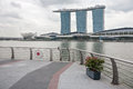 Marina bay sands i singapore Royaltyfria Foton