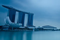 Marina Bay Sands Integrated Resort and Waterfront Stock Photos