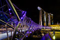 Marina bay sands in the night Royalty Free Stock Photos