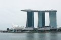Marina bay sands resort hotel singapore march on march in singapore it is billed as the world s most expensive standalone casino Stock Image