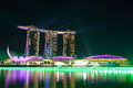 Marina bay sands singapore Fotografia de Stock Royalty Free