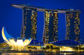 Marina bay sands singapore at night Stock Photo