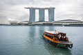 Marina bay sands in singapur Stockbild