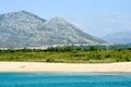 Marina di Orosei beach on Sardinia, Italy Royalty Free Stock Photo