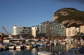 Marina in gibraltar ocean village Royalty Free Stock Image
