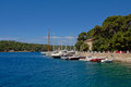 Marina harbor in Mali Losinj, Croatia Royalty Free Stock Photo