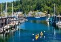 Marina Kayaks Reflection Gig Harbor Washington Royalty Free Stock Photo