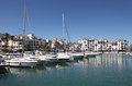 Marina in La Duquesa. Spain Stock Image