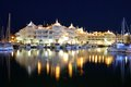 Marina at night, Benalmadena, Andalusia, Spain. Royalty Free Stock Photos