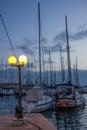 Marina at night. Trogir. Croatia Royalty Free Stock Photo