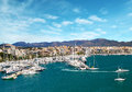Marina port in Palma de Mallorca at Balearic Islands Spain Royalty Free Stock Photo