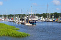 Marina a on a sunny day in hilton head south carolina Stock Photos