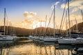 Marina in tortola sailboats at a at wickham's cay ii on british virgin islands Stock Photos